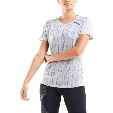 T-Shirt 2XU GHST Femme Manches Courtes Blanc/Gris 2021